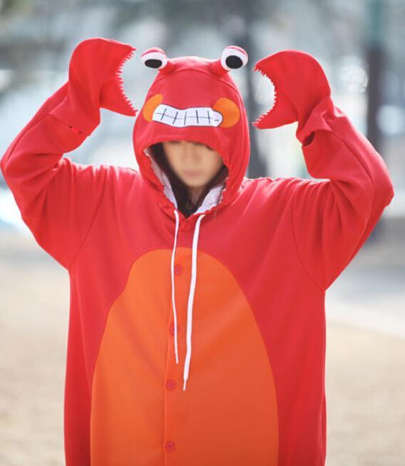 New Adulto Animale Granchio Kongfu Panda Sika Cosplay Pigiama Onesie Sleepwear Costume