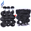 Brazilian Body Wave With Frontal Closure Alicrown Hair 3 Bundles With Frontal Brazilian Virgin Hair With Closure 13x4 Frontals