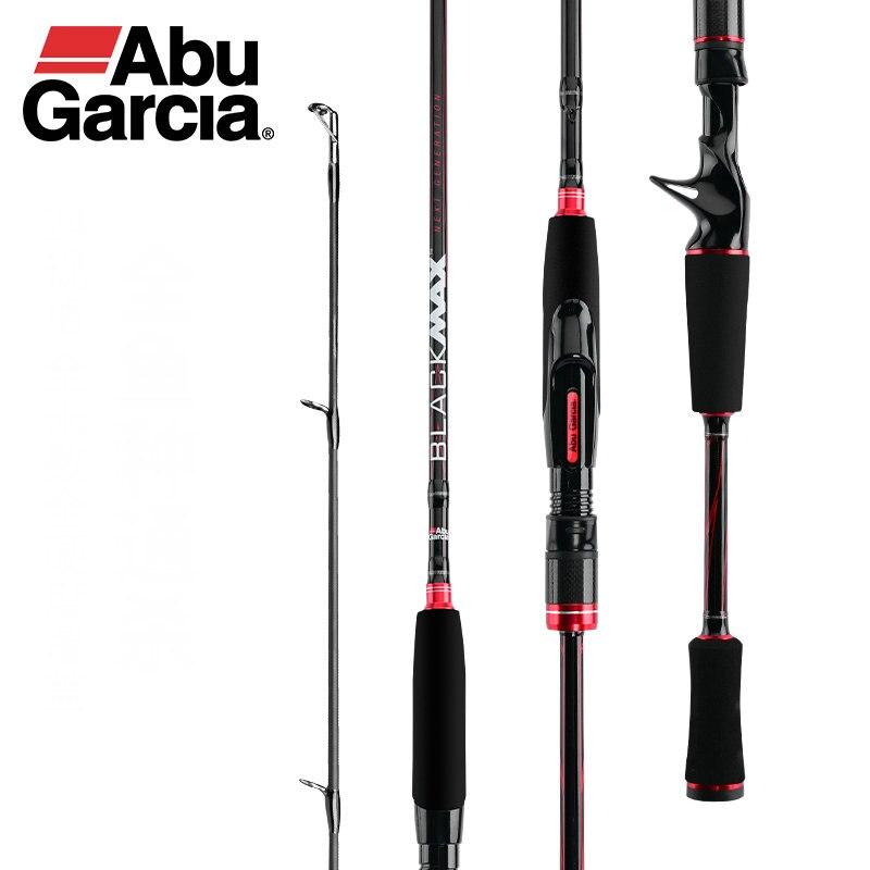 Original Abu Garcia New Max Black BMAX Baitcasting Lure Fishing Rod 1.98m 2.13m 2.44m ML M MH poder Fiação De Carbono Vara De Pesca