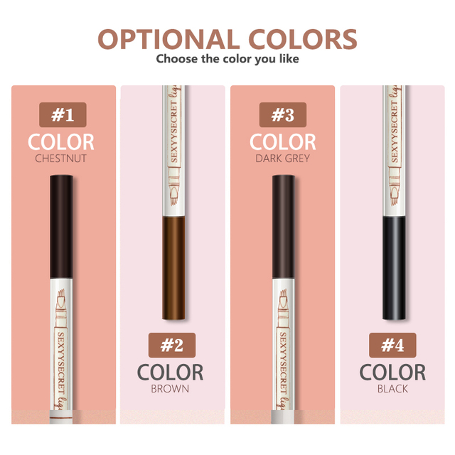 Waterproof Natural Eyebrow Pencil Four Fork Eye Brow Tint Makeup Four Colors Eyebrow Pencil Brown Black Grey Brush Cosmetics 2
