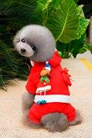 Ropa para perros de Navidad Del Traje de Santa Claus Ropa de Abrigo para Perros Ropa Para Mascotas