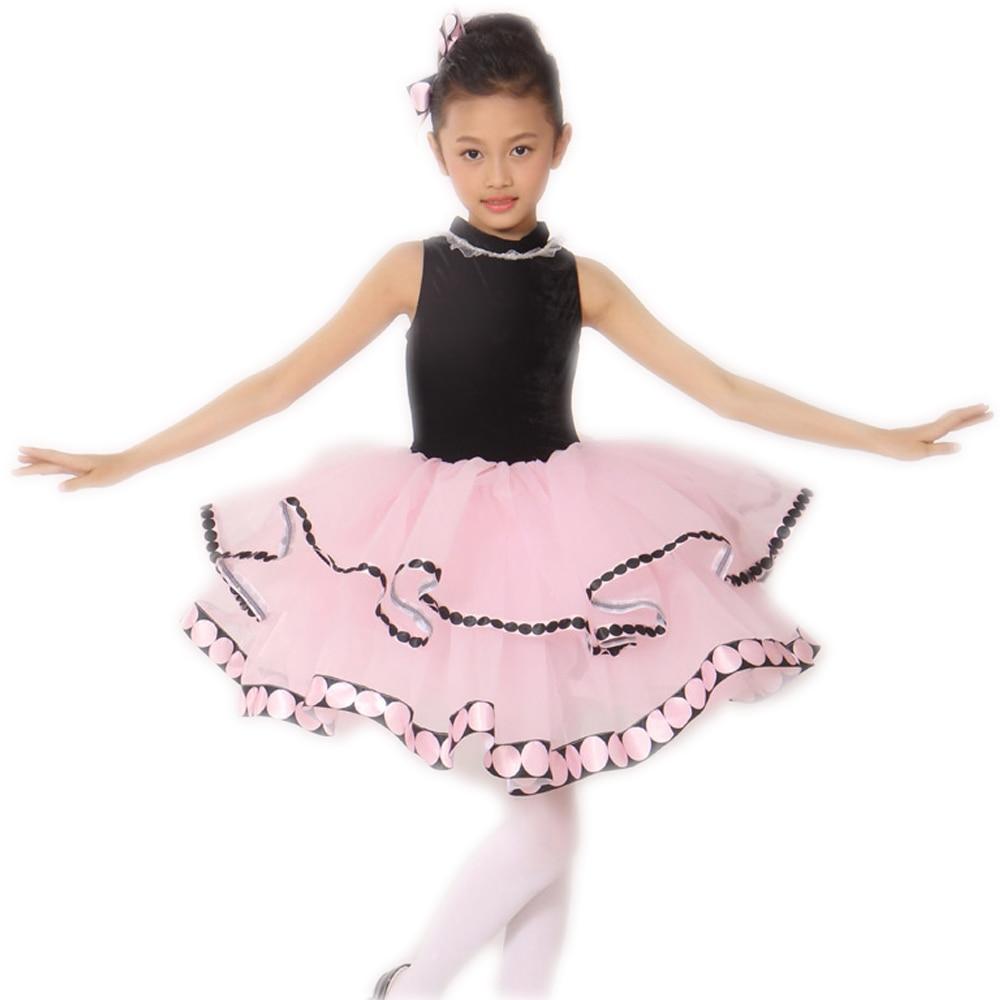 2018 justaucorps de gymnastique pour les filles les nouveaux enfants printemps et été Long point dentelle licou robe vêtements de mode Ballet 1731