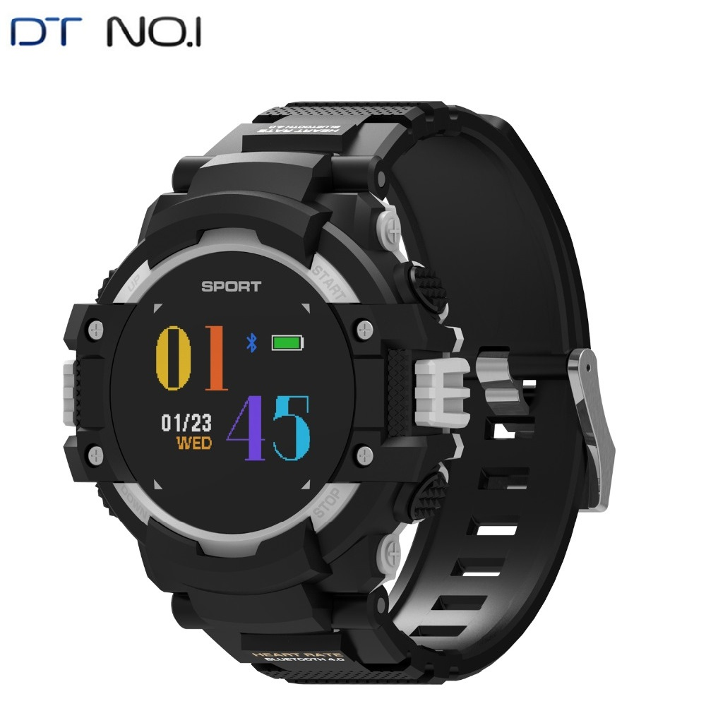 DTNO.1 Smart Watch Men Compass GPS <font><b>F7</b></font> Smartwatches IP67 Waterproof Bluetooth 4.2 420mAh Altitude Meter Thermometer Heart Rate image