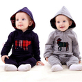 New fashion clothing spring models  baby jumpsuit Romper hooded climbing clothes baby coveralls boy and girls free shipping