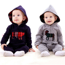 Новинка одежды весна модели комбинезон ползунки с капюшоном восхождение детская одежда комбинезоны мальчик и девушки бесплатная доставка
