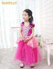 Kids Carnival Clothing Girls Sleeping Beauty Aurora Briar Rose Cosplay Princess Dress Child Halloween Party Role Play Costume brand girl dress sleeping beauty aurora princess for kids girls party dress halloween girls cosplay costume children clothing