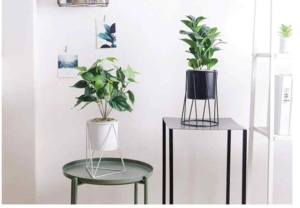 Metal Estande de Plantas Em Vasos Plantador Cesta de Mesa Vaso de Flores Chão Rack/Acessórios Racks Rodada Recipiente Planta