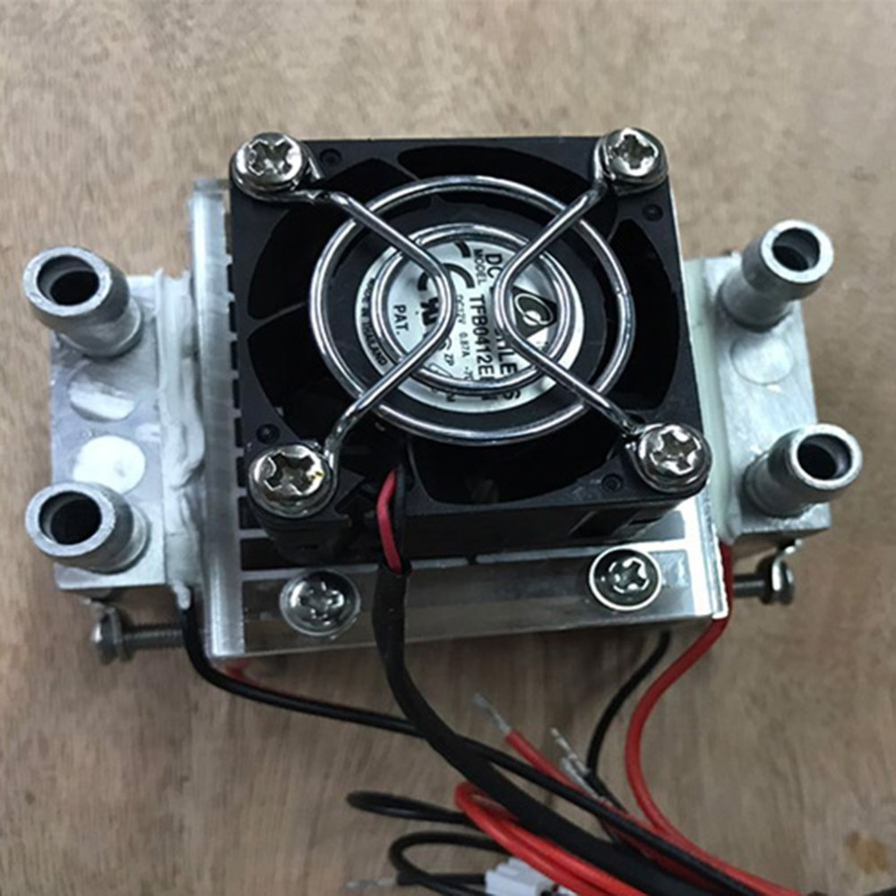 1 PC Diy 120w Tec Peltier Semiconductor Refrigerator Water Cooling Air Conditioning Mechanism For Cooling And Fan