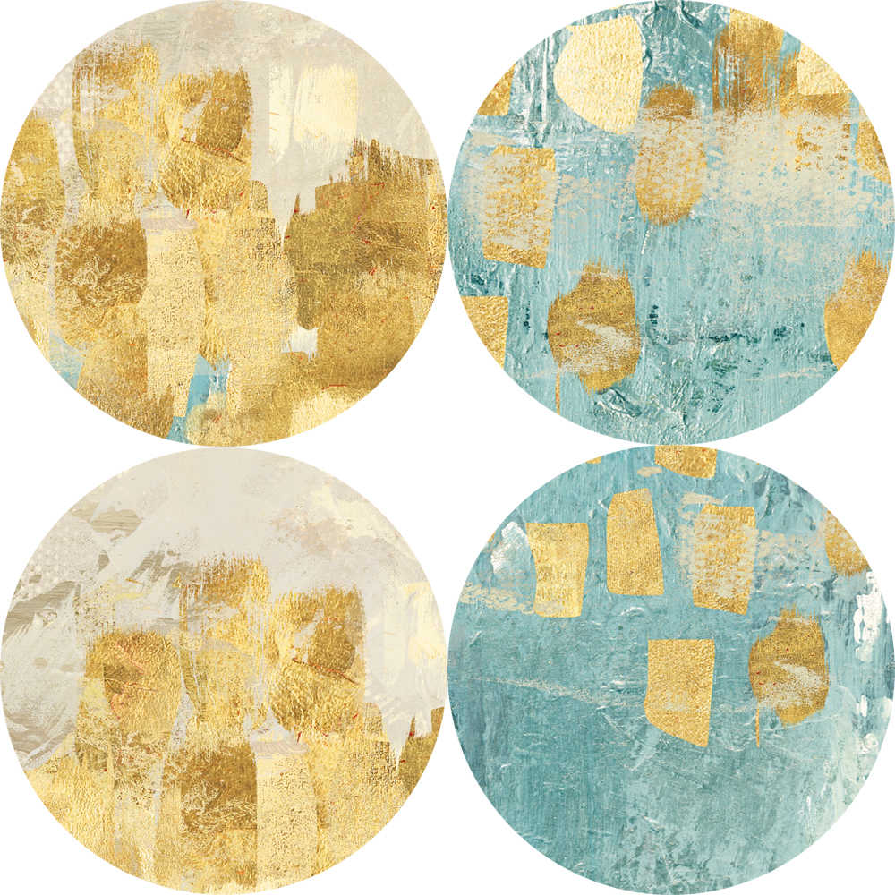 Абстрактные золотые точки плакаты и картины на холсте Современные стены граффити Поп-Арт холст картины для кровати гостиной куадро Декор