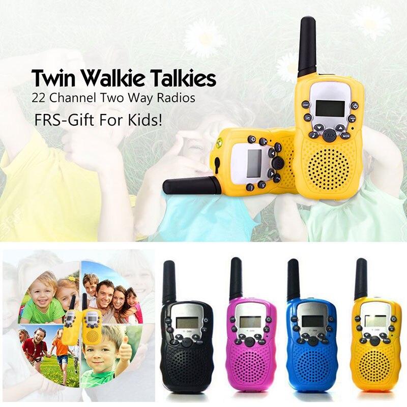 2 Pcs/Set Children Toys 22 Channel Walkie Talkies Two Way Radio UHF Long Range Handheld Transceiver Kids Gift  NSV775
