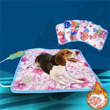 Electric Heat Mats Beds For Small Dogs Cat Bunny Heater Mat Blanket Bed Color Mat Random Accessories Supplies 20W 40*40cm small bunny s blue blanket new ed