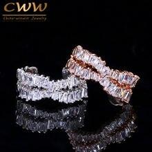 Кольца cwwzircons розовое золото серебристый цвет x форма регулируемый