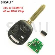 SIKALI 3 Buttons Remote Car Key Door Lock Control for Toyota Camry Prado Corolla Auto Lock Door 315MHz/433MHz TOY43 Blade