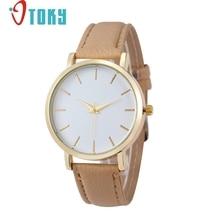 Роскошные Кварцевые часы Для Женщин Моды Кожаный Ремешок Золото Дамы Наручные Часы Женщины relógio feminino #1109
