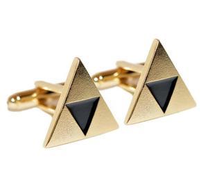 Legend of запонки Зельда Triforce, черные эмалевые запонки, ювелирные изделия для косплея для мужчин, рождественский подарок, Прямая поставка