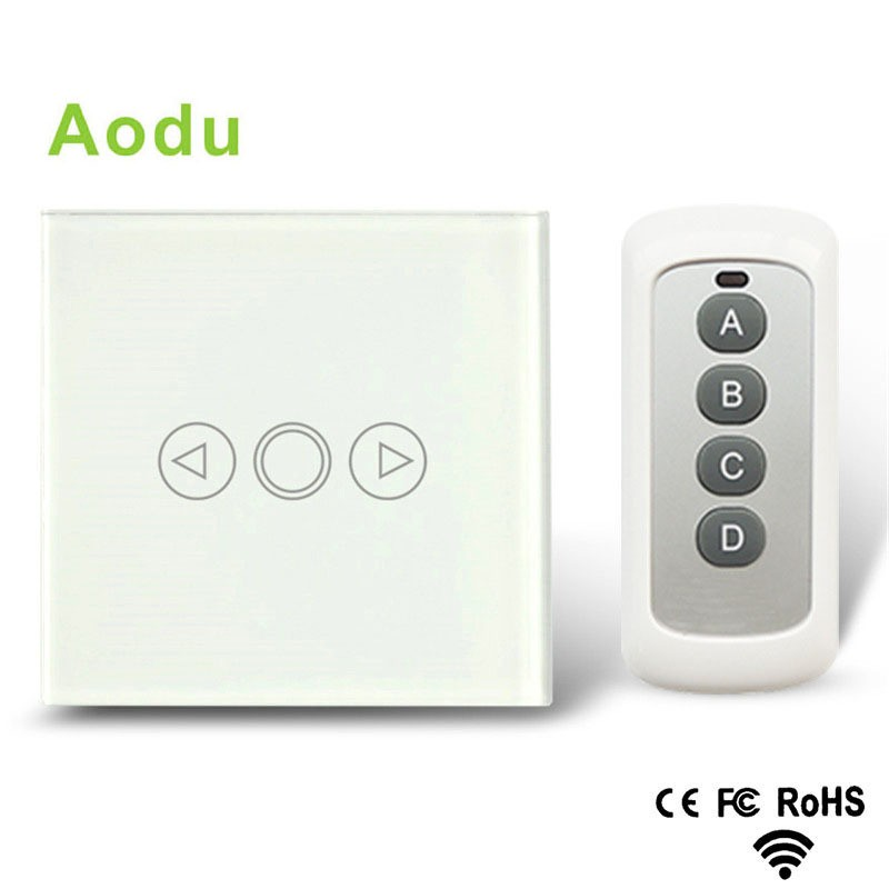 Audo EU Standard Dimmer Switch, Wall Switch, Crystal Glass Panel, 1 Gang 1 Way Wall Light  Remote Touch Dimmer Switch smart home eu touch switch wireless remote control wall touch switch 3 gang 1 way white crystal glass panel waterproof power