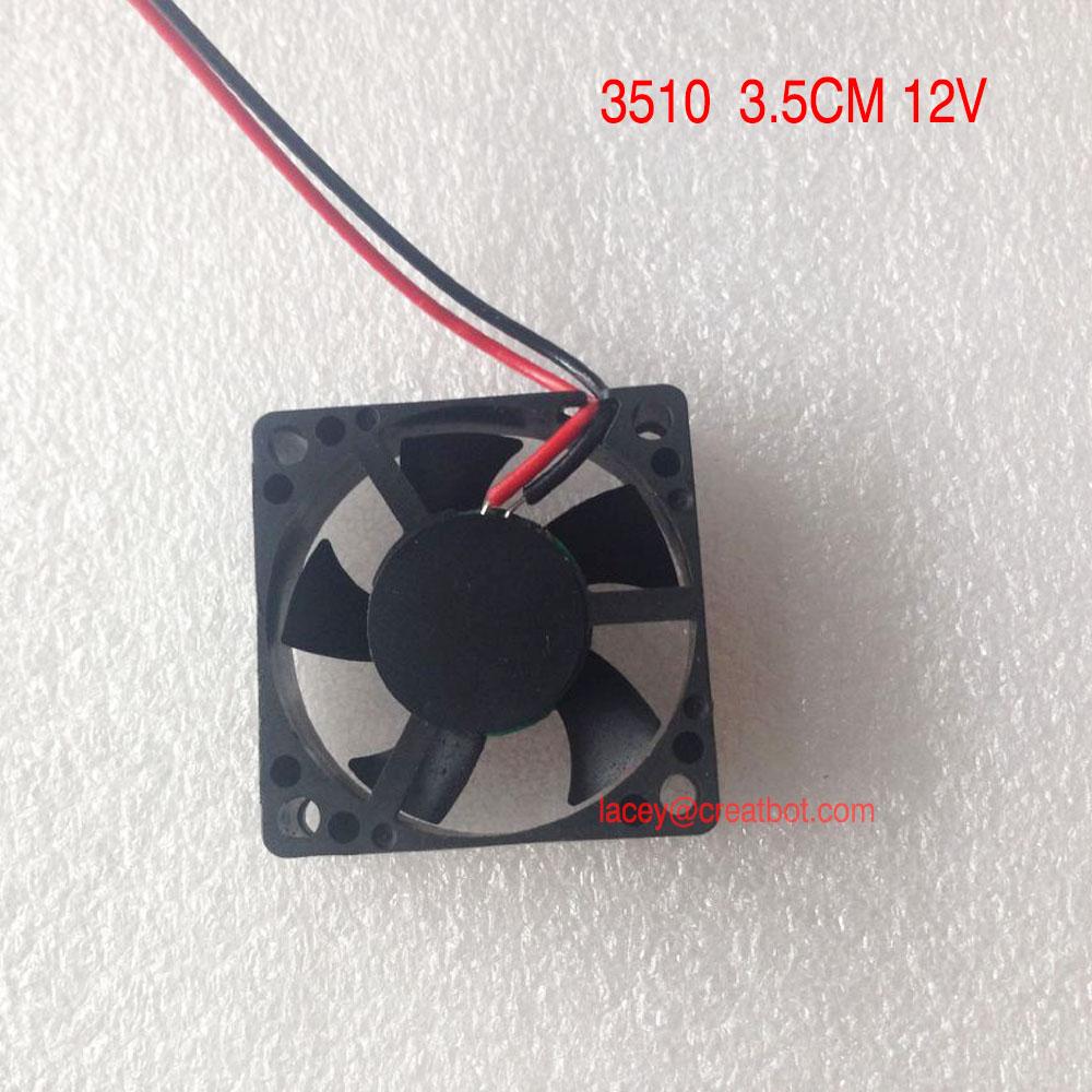 5 pieces/lot CreatBot Original parts fans size 3510 12v 3510 3.5CM 01b for DX printer D600 printer