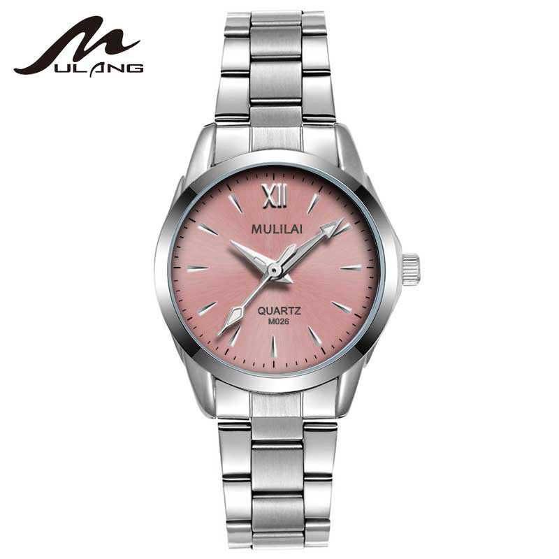 MULILAI Uhr Frauen Mode Luxus Uhr Reloj Mujer Edelstahl Qualität - Damenuhren