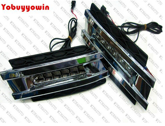 12W High Power LED Daytime Running Lights With Fog Lamp Cover For Mercedes Benz X164 GL320 GL450 GL550 GL Class 06 11