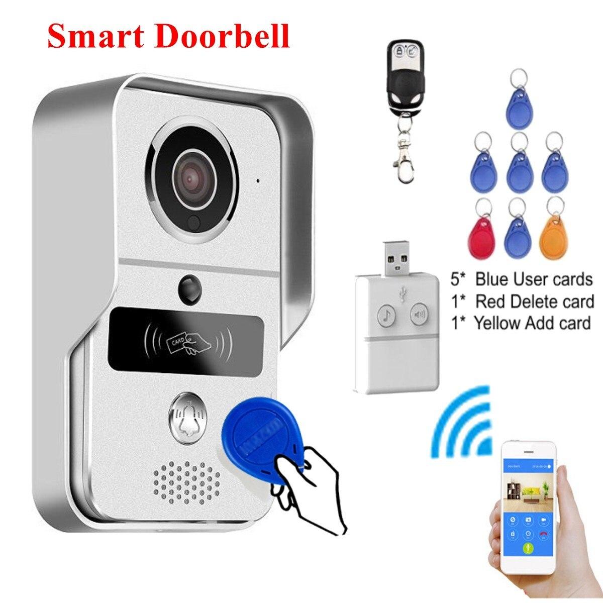 Новый safurance RFID Smart Беспроводной Wi Fi пульт дистанционного Дверные звонки телефон с поддержкой видео Камера кольцо охранных Домофон