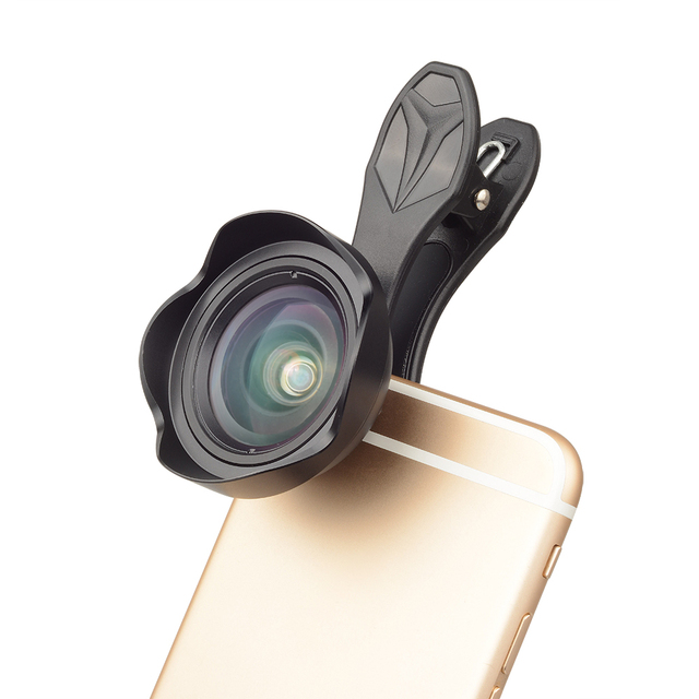 APEXEL Professional Optic Phone camera lends kit 15mm 4K Wide angle lens no distortion for iPhoneX 8 plus HTC more smartphone 1