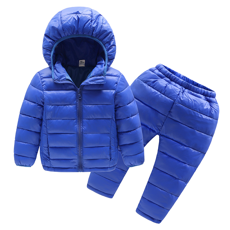 Duck down winter jackets&pants sets for girls boys coat outerwear children's clothes&pants sets winter coat children Toptoptop a15 girls jackets winter 2017 long warm duck down jacket for girl children outerwear jacket coats big girl clothes 10 12 14 year