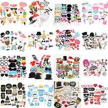 10 60Pcs DIY font b Photo b font font b Booth b font Props Funny Mask