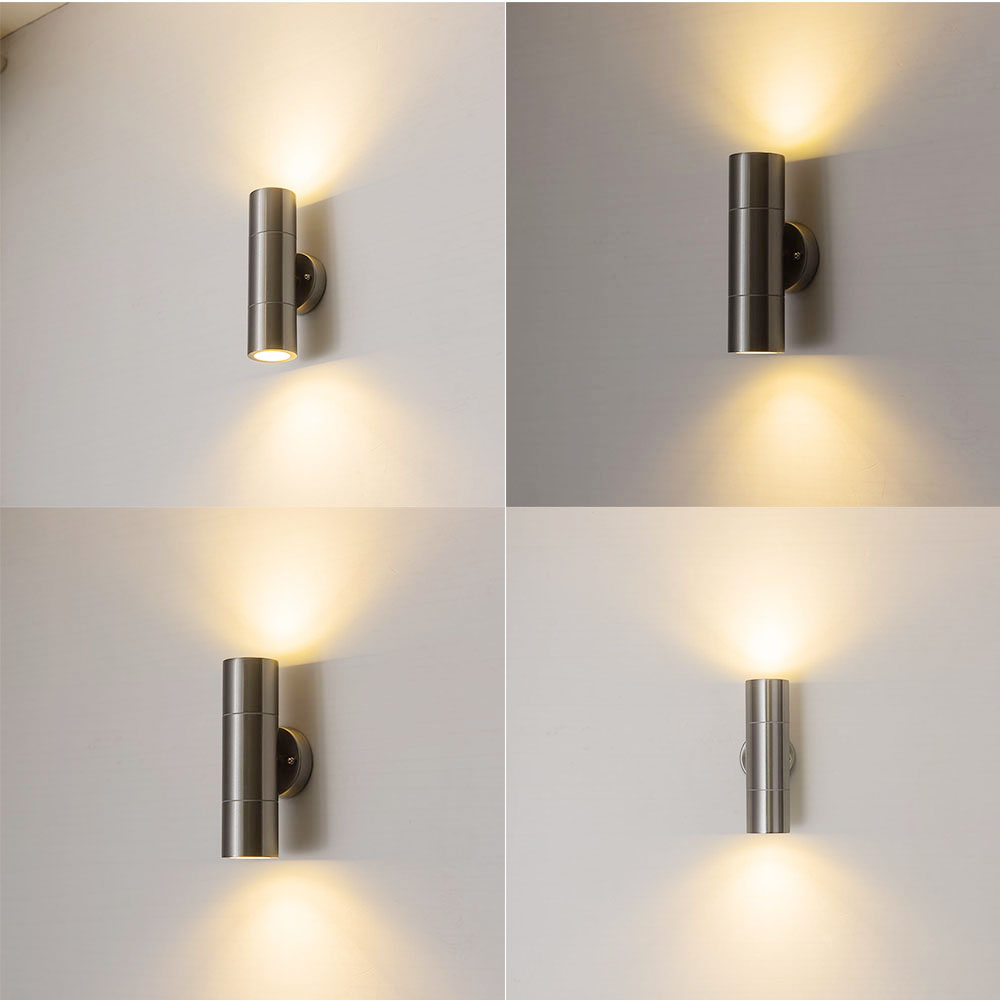 Stainless steel Porch Lights wall lamp up down bright gu10 led wall light outdoor lamps