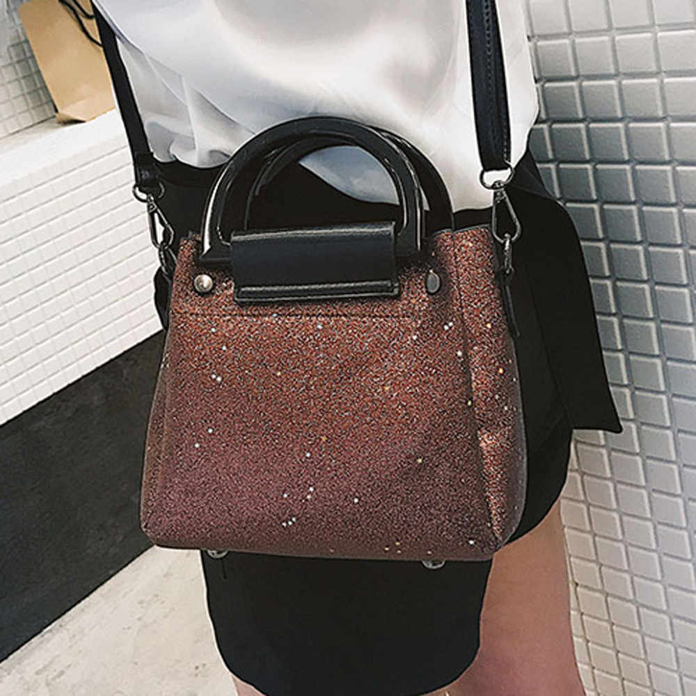 Women Sequined Messenger Bag Quality Leather Women s Chain Bag Female  Shoulder Bag Lay Crossbody Bags   2aa53c93bac3