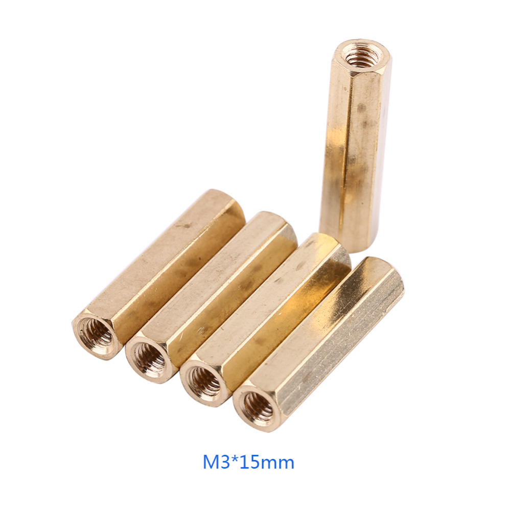 100pcs Lot M3 Hex Brass Standoff Column Female Support Threaded 120pcs Copper Silver Pillars Circuit Board Pcb Nut Getsubject Aeproductgetsubject