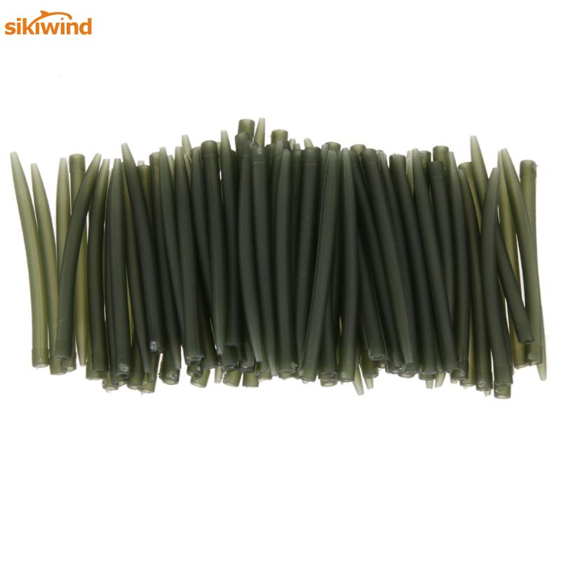 Sikiwind 50pcs/Pack Terminal Carp Fishing Anti Tangle Sleeves Connect With Fishing Hook 53mm Carp Fish Tackle Pesca Iscas Tools