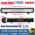"20"" 294W 5D Cree Chips Super Bright Daytime Running Lights LED Work Light Bar Offroad Car Lamp Boat Pickup External Lights SUV"