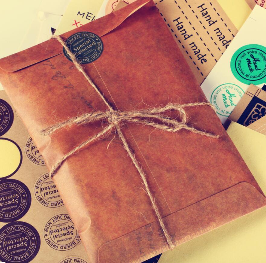 100pcs  lot 16x11cm old style vintage paper envelope brown