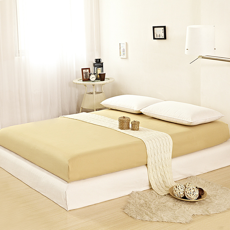 Factory Sale 1pcs 12 Solid Color Fitted Sheet Bed Sheets Hotel Bed Covers <font><b>Mattress</b></font> Cover Protector King/Queen/Full/Twin <font><b>Size</b></font>