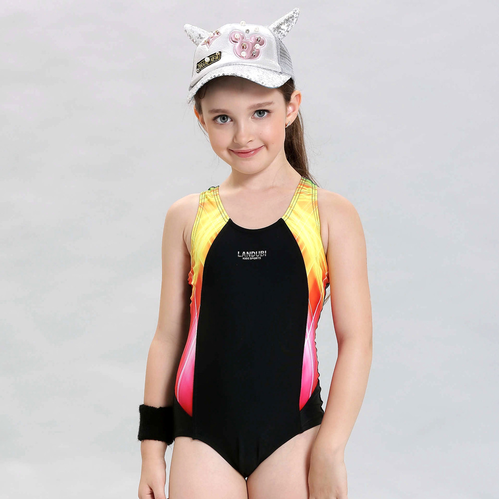 2017 New Children Swimwear Kids Patchwork Sports Swimming Clothes One Piece Baby Toddler Swimsuit Girls Bathing Suits Beachwear kids swimming suits for girls one piece swimsuit swimwear children 2018 new green printing one piece retro baby biquini