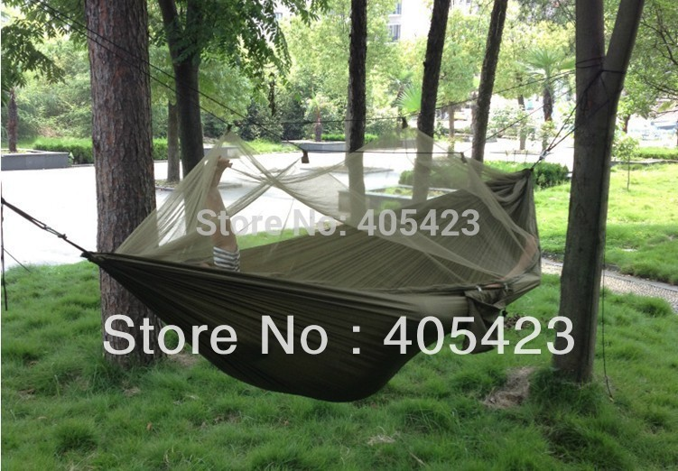 new Outdoor hammock,Army Outdoor Camping Hammock Tent + Bed + Mosquito Nets,outdoor,Leisure,Siesta bed,1pc mosquito nets curtain for bedding set princess bed canopy bed netting tent