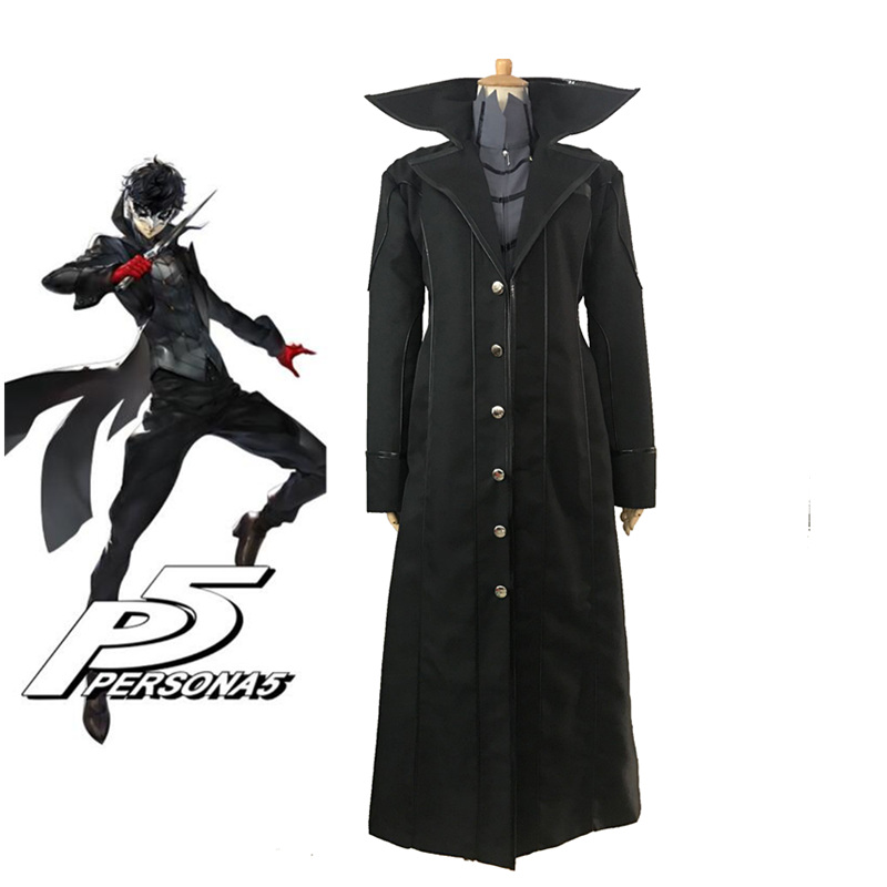 Game Persona 5 Hero Cosplay Costume Full Set Unifrom Custom Size XS-XL