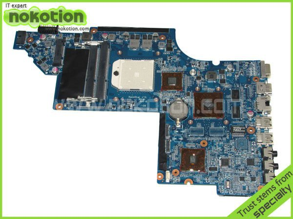 NOKOTION LAPTOP MOTHERBOARD for HP DV6 640451-001 HPMH-41-AB6300-D00G DDR3 SOCKET S1 642528-001 644643-001 nokotion 650852 001 for hp dv6 dv6 6000 laptop motherboard ddr3 socket fs1 high quanlity tested