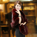 The new fur coat cloak was thin imitation water mink wool warm shawl female