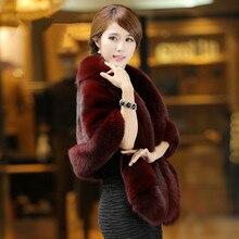 The new fur coat cloak was thin imitation water mink wool warm shawl female