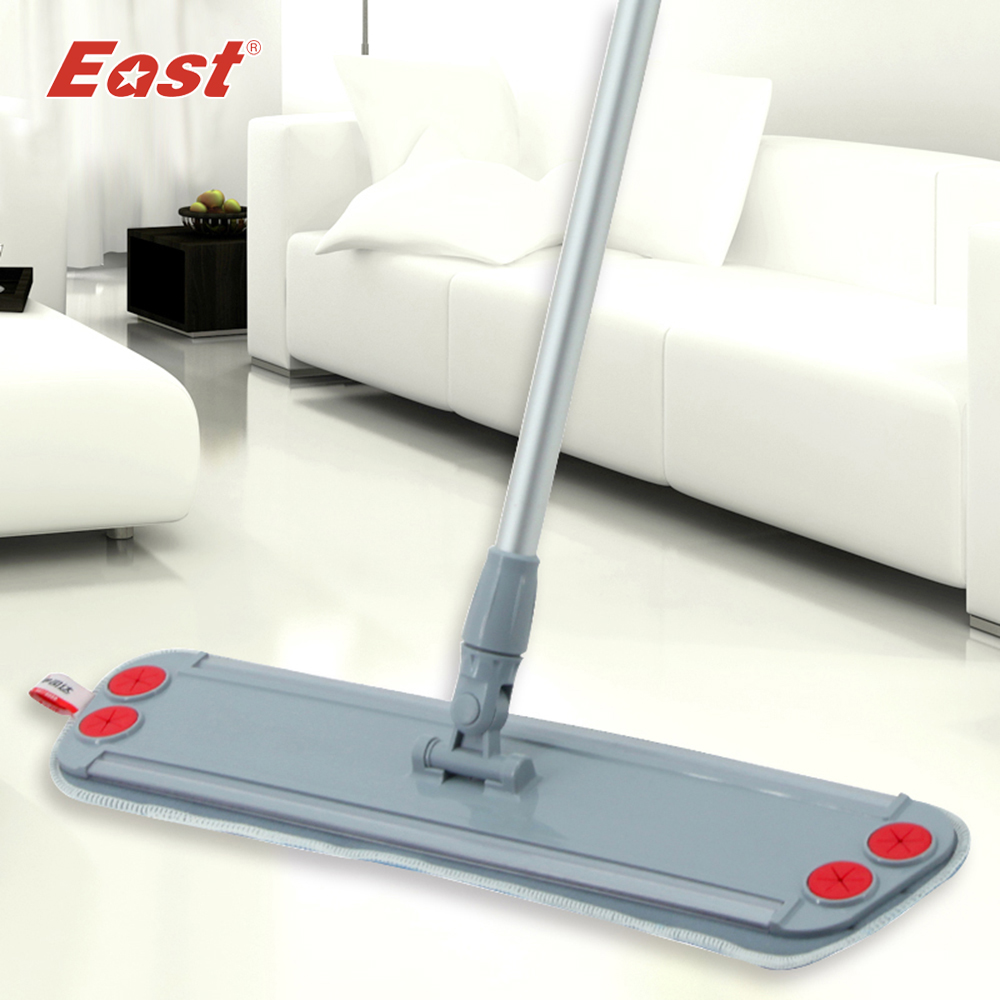 East home floor kitchen living room cleaning tools Telescopic with microfiber cloth can clip <font><b>towel</b></font> Flat Dust Mop