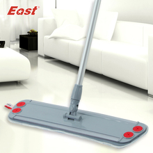 Buy East  home floor kitchen living room cleaning tools Telescopic with microfiber cloth can clip towel Flat Dust Mop