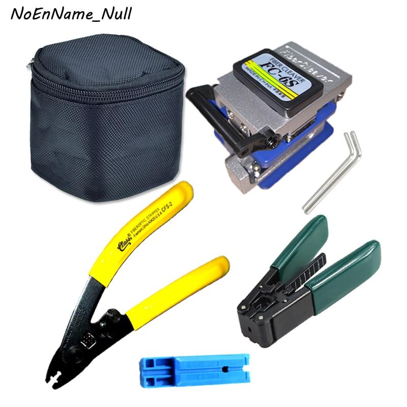 6pcs/set Optical fiber Tool kits Fiber Cleaver FC 6S dual port Miller Clamp CFS 2 Wire Strippter pilers Fixed length rail