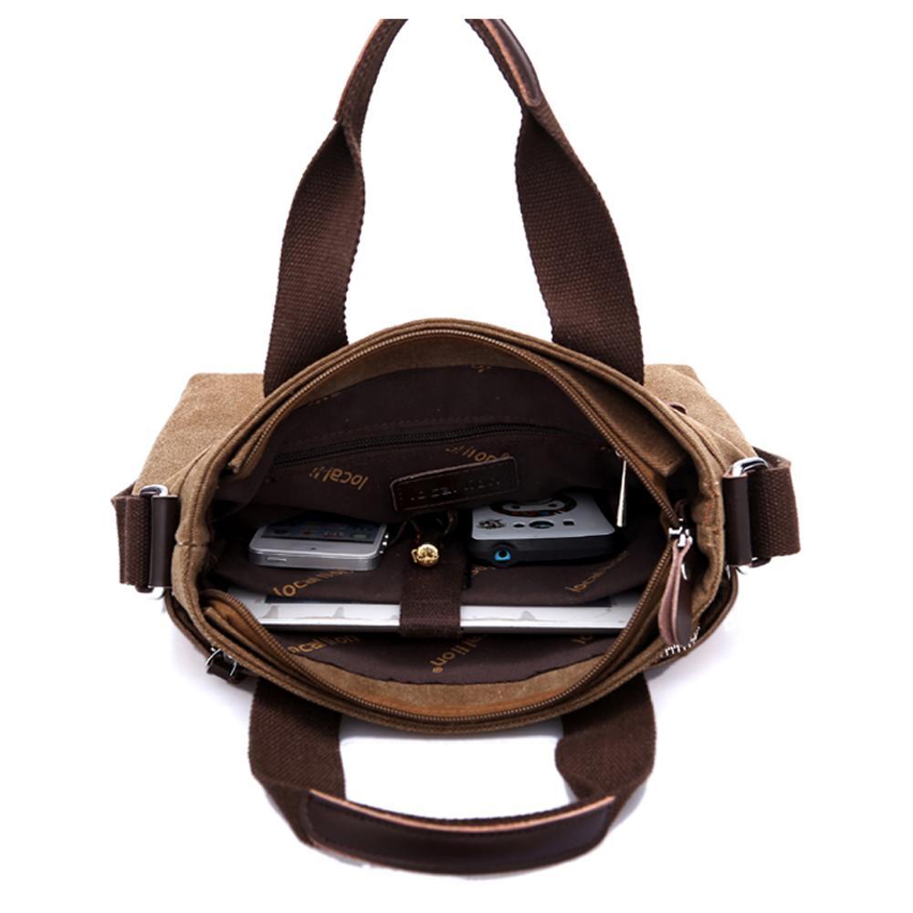 Online Shop Men's casual canvas shoulder bag fashion business ...