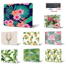 Mooie Bloemen Bladeren Laptop Case voor Apple Macbook Pro 13 met CD-ROM A1278 MD102/101 Pro notebook cover + toetsenbord Cover(China)