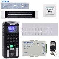 DIYSECUR TCP/IP USB Fingerprint ID Card Reader Password Keypad Door Access Control System + Power Supply + Magnetic Lock Kit