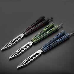 Etui z klapką praktyka narzędzia składany nóż motyl CS Go Karambit noże kieszonkowe rzucanie nożem stali nierdzewnej trener zabawki gra taktyczna nie ma ostrych|Części do narzędzi|   -
