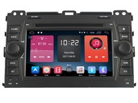 4G lite 2GB ram Android 6.0 quad core car dvd player stereo gps tape recorder for toyota prado lc120 landcruiser head units