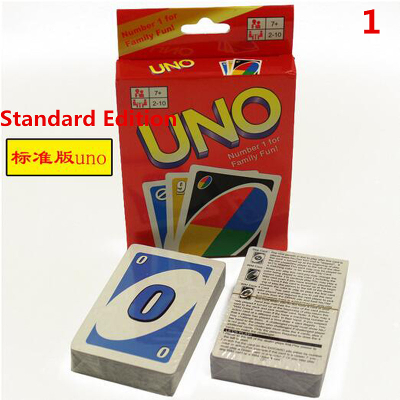 UNO Card Table Games Standard Thickened With Penalties Plastic Crystal Yoplait Playing Card