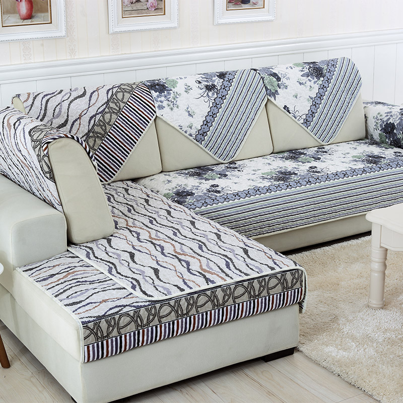 Sunnyrain 1 piece double face reversible modern sofa cover for Sectional sofa hyderabad